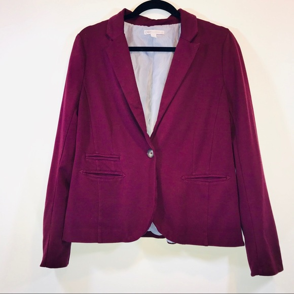 Cato Jackets & Blazers - Cato Burgundy One Button Blazer - #1248